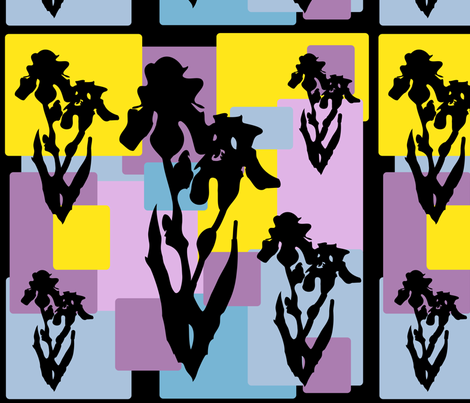 Iris Silhouette fabric by grammak on Spoonflower - custom fabric