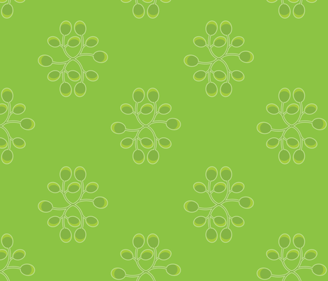 Callifornia Oak: Curled Leaves fabric by penina on Spoonflower - custom fabric