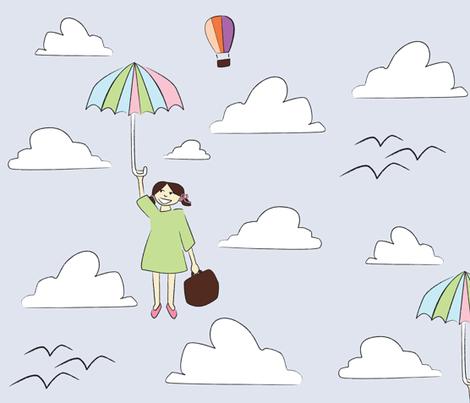 moj dežnik je lahko balon fabric by p_kok on Spoonflower - custom fabric