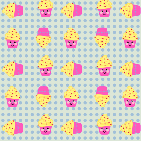 LiL'  Happy Cuppycake Party!  - © PinkSodaPop 4ComputerHeaven.com fabric by pinksodapop on Spoonflower - custom fabric