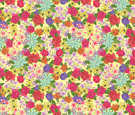 Summer Bouquet fabric by lydia_meiying on Spoonflower - custom fabric