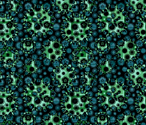 contrast blue-green fabric by lilichi on Spoonflower - custom fabric