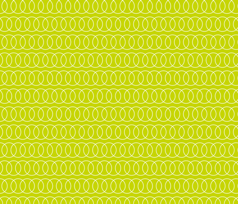 Tennis Ball Chain Link Yellow fabric by freshlypieced on Spoonflower - custom fabric