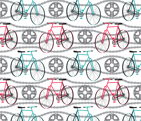 LoveMyBike fabric by deesignor on Spoonflower - custom fabric