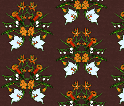 Summer Flowers 2 fabric by jadegordon on Spoonflower - custom fabric