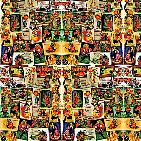 Vintage Halloween fabric by whimzwhirled on Spoonflower - custom fabric