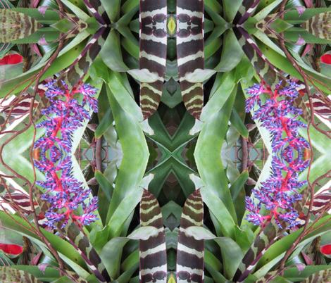 Zebra in the Garden fabric by suebee on Spoonflower - custom fabric