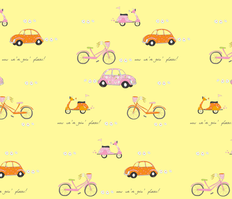 GoingPlaces_fat fabric by monicaleestudios on Spoonflower - custom fabric