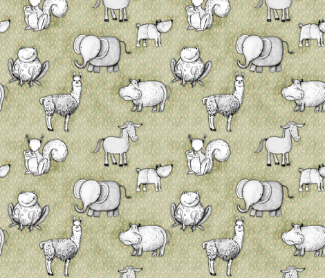 Animal World fabric by renule on Spoonflower - custom fabric