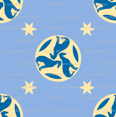 Blue Greyhounds GG3s ©2010 by Jane Walker