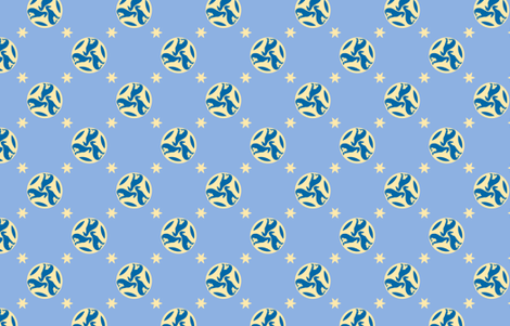 Blue Greyhounds GG3s ©2010 by Jane Walker fabric by artbyjanewalker on Spoonflower - custom fabric