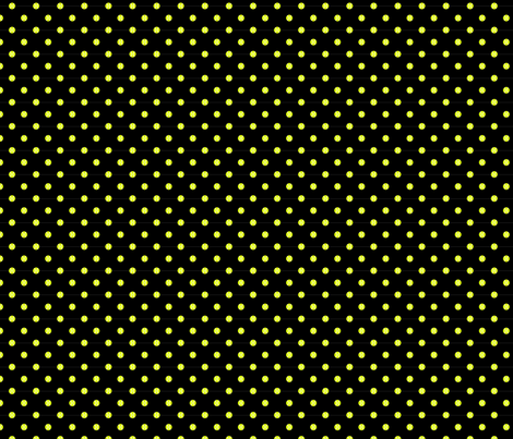 Tennis Ball Dot Black fabric by freshlypieced on Spoonflower - custom fabric