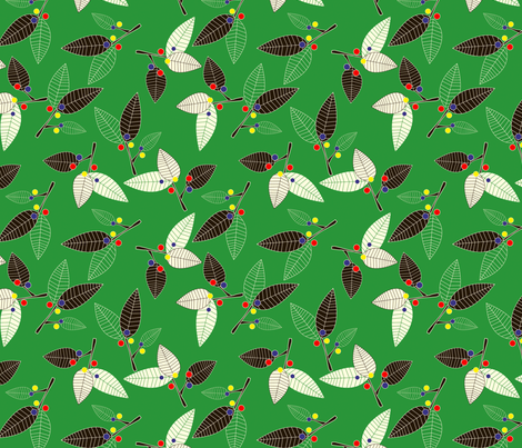 Leaves fabric by lydia_meiying on Spoonflower - custom fabric