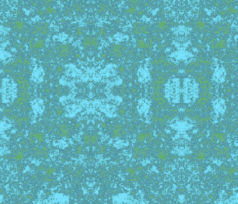 Lichen in Blue and Green © 2010 Gingezel™ Inc. fabric by gingezel on Spoonflower - custom fabric