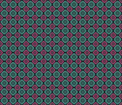 pink and green pattern fabric by suziedesign on Spoonflower - custom fabric