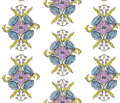 summer-bouquet fabric by t_buck on Spoonflower - custom fabric