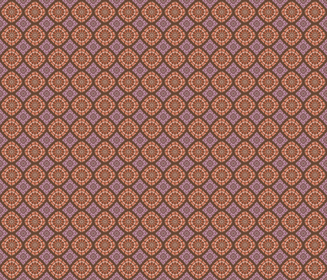 orange and purple pattern fabric by suziedesign on Spoonflower - custom fabric