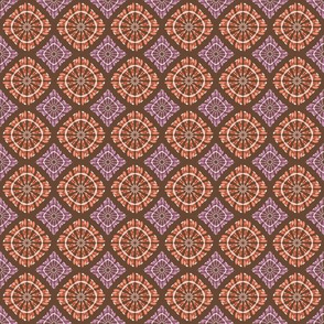 orange and purple pattern