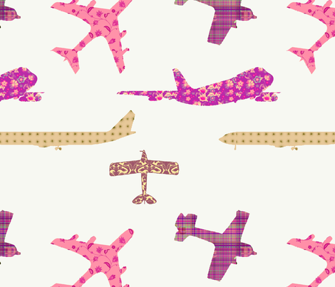 Perfectly_Peach_Planes fabric by nicoletta on Spoonflower - custom fabric