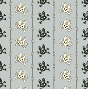 Bunny Goth Bone Stripe Blue