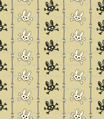 Bunny Goth Bone Stripe Green