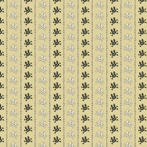 Bunny Goth Bone Stripe Green