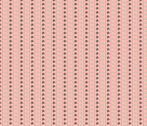 Bunny Goth Bone Stripe Pink fabric by voodoorabbit on Spoonflower - custom fabric