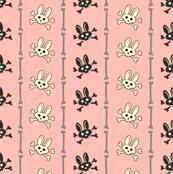 Bunny Goth Bone Stripe Pink