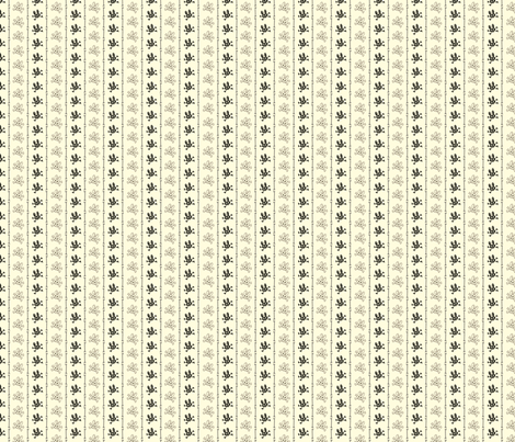 Bunny Goth Bone Stripe white fabric by voodoorabbit on Spoonflower - custom fabric