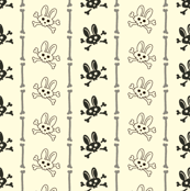 Bunny Goth Bone Stripe white