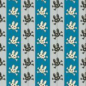Bunny Goth Pinstripe Blue