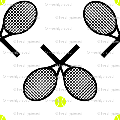 Tennis Racquets Black