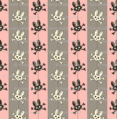 Bunny Goth Pinstripe Pink