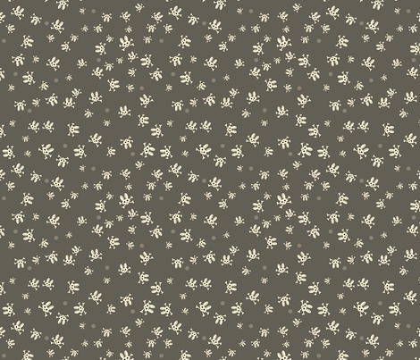 Bunny Goth Scatter Grey fabric by voodoorabbit on Spoonflower - custom fabric