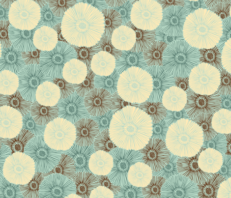Andrea Blue fabric by paper_pie on Spoonflower - custom fabric