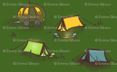 Night Fell on the Campsite