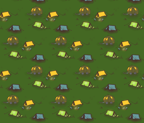 Night Fell on the Campsite fabric by emmyupholstery on Spoonflower - custom fabric