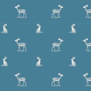Vintage Deer & Bunnies