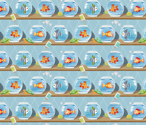 Fishbowls fabric by pattysloniger on Spoonflower - custom fabric