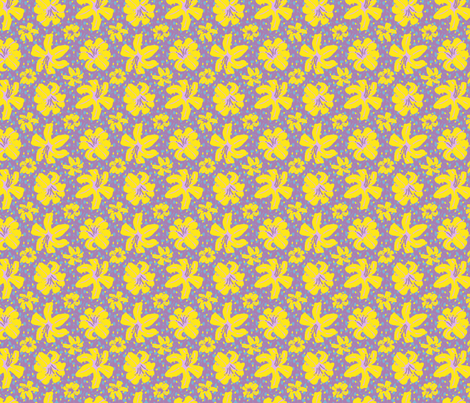 A Summer Flower Shower fabric by kdl on Spoonflower - custom fabric