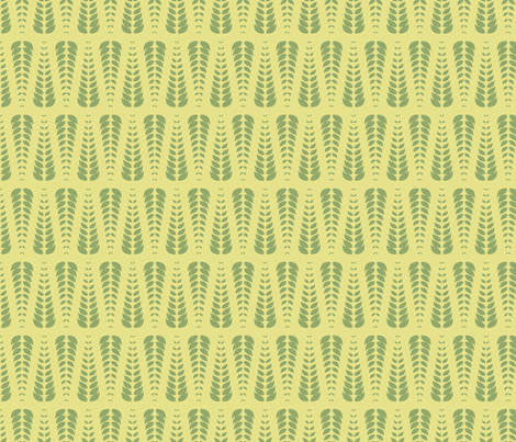 green leaves fabric by suziedesign on Spoonflower - custom fabric