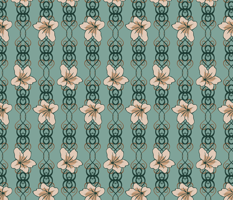 floralscroll3 fabric by artbybaha on Spoonflower - custom fabric