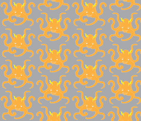 PaulPsychicOctopus3 fabric by dolphinandcondor on Spoonflower - custom fabric