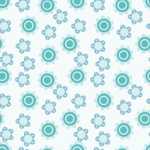 baby blue flower pattern