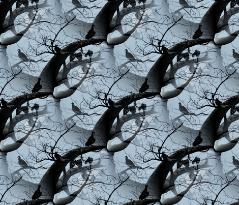Fashion Vultures fabric by peacoquettedesigns on Spoonflower - custom fabric