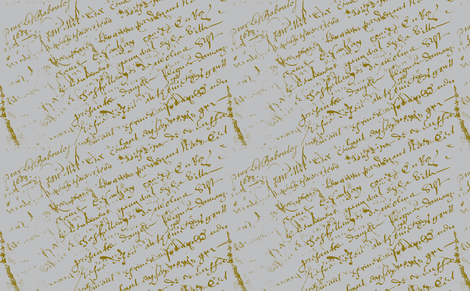 French Script Grey background fabric by karenharveycox on Spoonflower - custom fabric