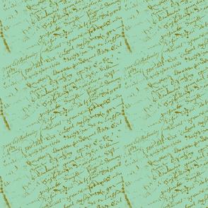 French Script Pistachio