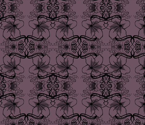 floralscroll4 fabric by artbybaha on Spoonflower - custom fabric