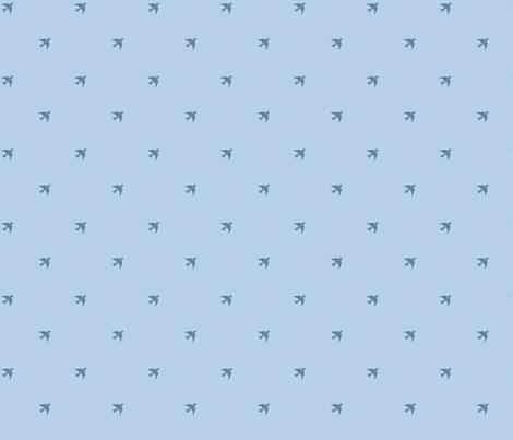 Vintage Bluebirds fabric by rikkib on Spoonflower - custom fabric