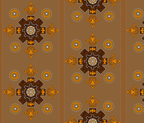Steampunk Hanky 2 fabric by jadegordon on Spoonflower - custom fabric